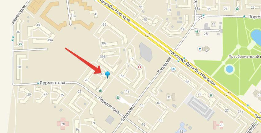 улица Лермонтова 18, где и базируетсяЯндекс Такси Абакан