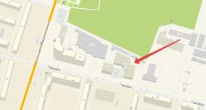 улица Гайдара, дом 55, где и базируется фирмаЯндекс Такси Архангельск
