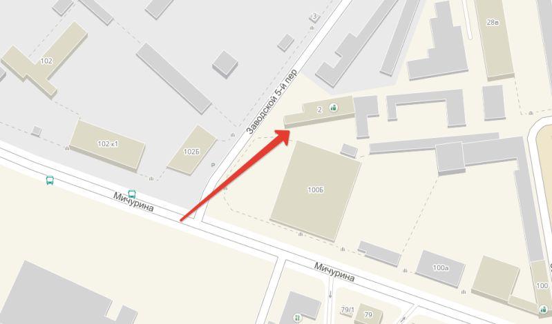 5-й Заводской переулок 2, где базируетсяЯндекс Такси Белгород