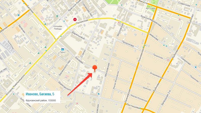 Представительство партнеров легко отыскать по адресу, улица Багаева, дом 5, офис 3