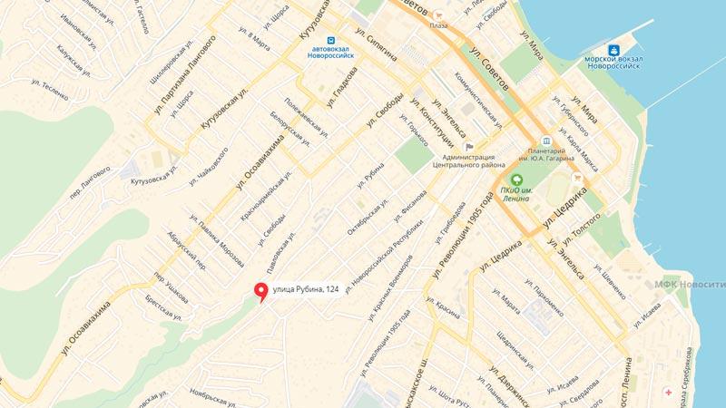 Номер Яндекс.Такси Новороссийска для подключения водителей 8((800)555-72-52, офис находится по адресу: улица Рубина дом 126