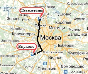 Яндекс.Такси Внуково Шереметьево