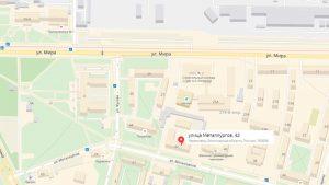 представительство компании по адресу, улица Металлургов, дом 42.