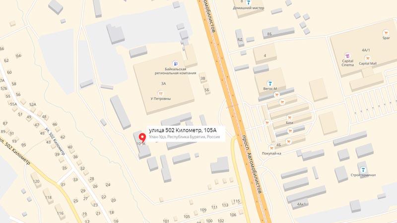 представительство фирмы легко по адресу, улица 502 Километр, дом 105А.