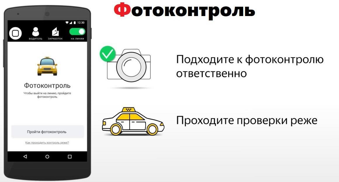 Фотоконтроль Яндекс Такси